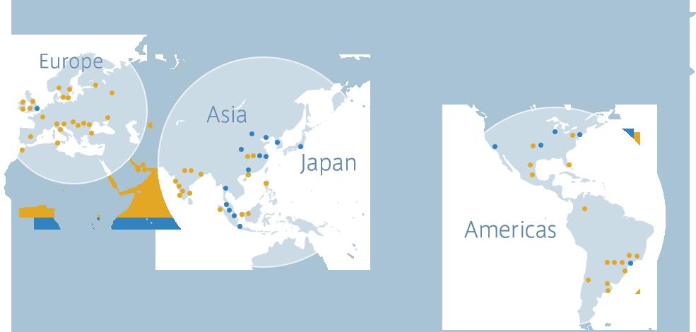 アビームコンサルティング世界拠点図