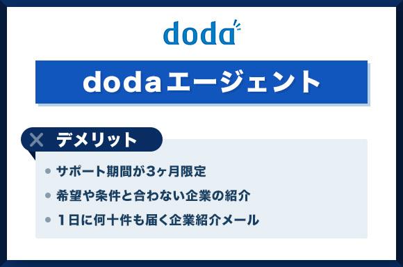 dodaエージェントのデメリット